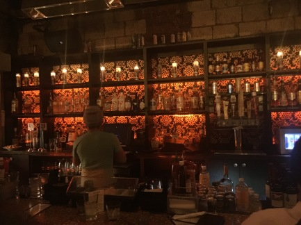 Bar located in the back